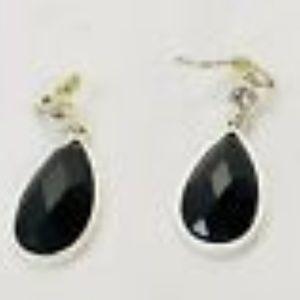 Jewelry - Silver Tone Women's Faceted Glass Bead Earrings